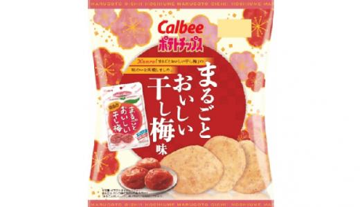 甘酸っぱい梅の味わい!「ポテトチップス まるごとおいしい干し梅味」新発売