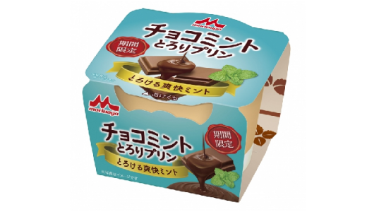 【期間限定】とろ~りやわらか食感!「チョコミント とろりプリン」新発売