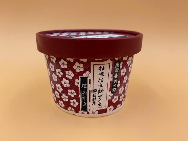 桔梗屋「桔梗信玄餅アイス 塩あずき」価格:320円(税抜)