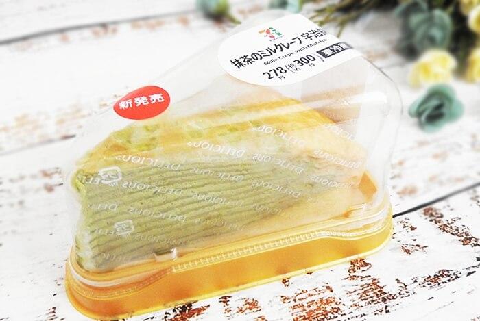 抹茶のミルクレープ宇治抹茶(セブンイレブン) 価格:300円(税込)