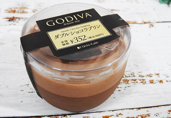 Uchi Café×GODIVA ダブルショコラプリン(ローソン) 価格:380円(税込)