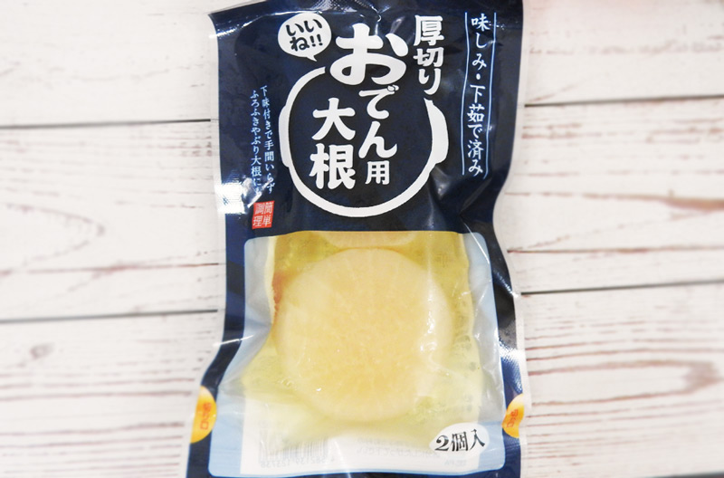 厚切りおでん用大根(ローソン100) 価格:108円(税込)