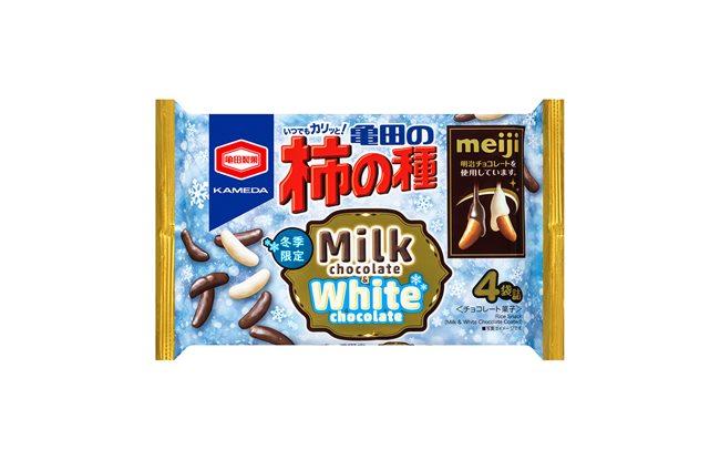 「亀田の柿の種 ミルクチョコ&ホワイトチョコ」