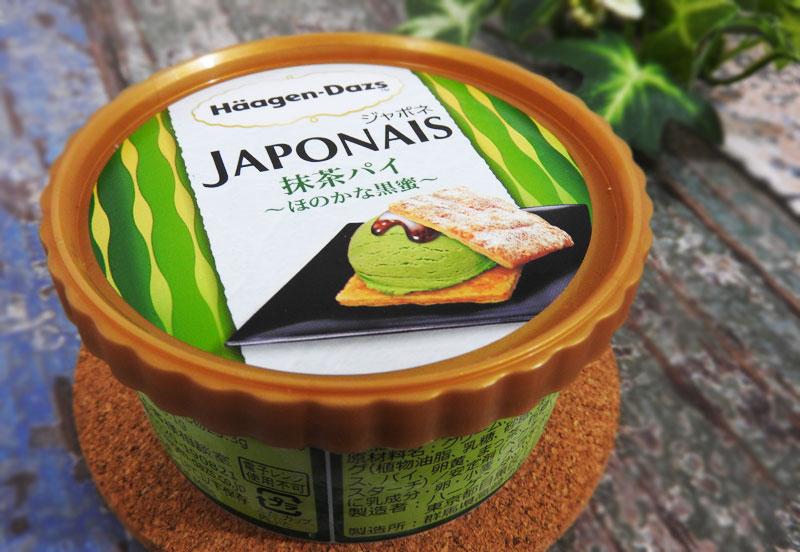 セブンイレブン限定 ハーゲンダッツ「ジャポネ 抹茶パイ ほのかな黒蜜」 価格:392円(税込)