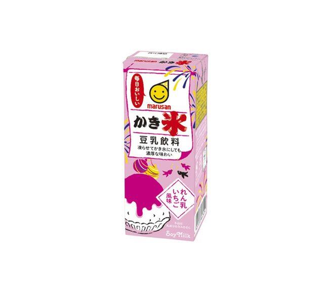 豆乳飲料かき氷れん乳いちご風味
