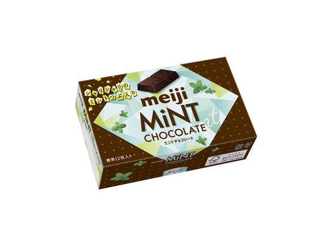 明治ミントチョコレート箱