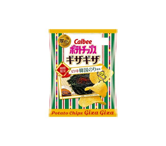 ポテトチップスギザギザ ピリ辛韓国のり風味