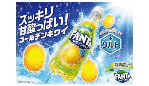 夏に嬉しい塩分入り!「ファンタ ゴールデンキウイ+ソルト」新発売