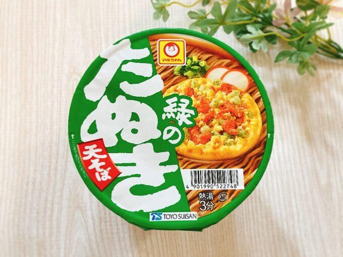 マルちゃん 緑のたぬき天そば 価格:208円(税込)