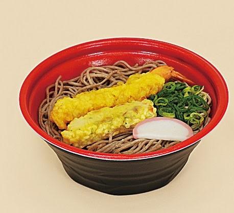 海老とちくわの天ぷらそば